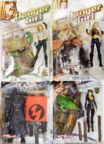 Danger Girl - Abbey Chase, Sydney Savage, Natalya Kassle & Major Maxim - McFarlane Toys (loose on card)