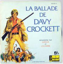 Davy Crockett - Disque 45T La Ballade de Davy Crockett par Giraud et Loussine - Disques Ades 1976