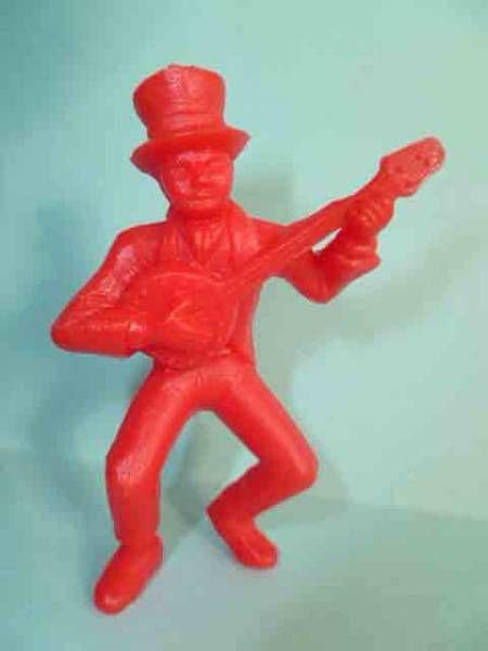 Davy Crockett - Figurine La Roche aux Fées - Série 1 - Joueur de banjo