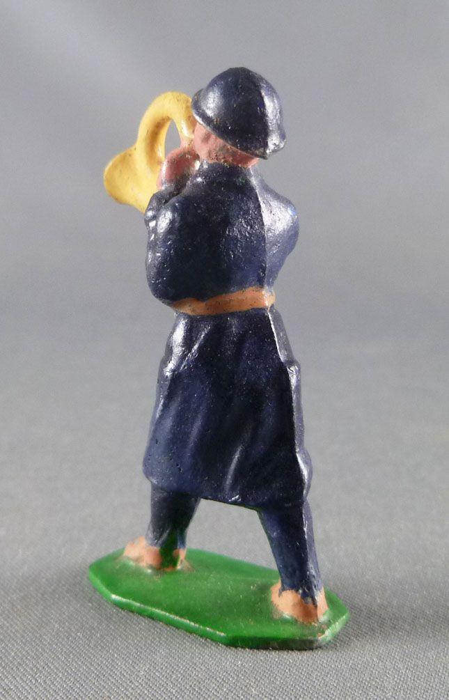 D.C. (Domage & Cie) - Figurine Plomb Creux 45 mm - Fantassin Français Cor Tenue Bleue