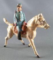 D.C. (Domage & Cie) - Figurine Plomb Creux 85 mm - Cavalerie Française Officier au pas