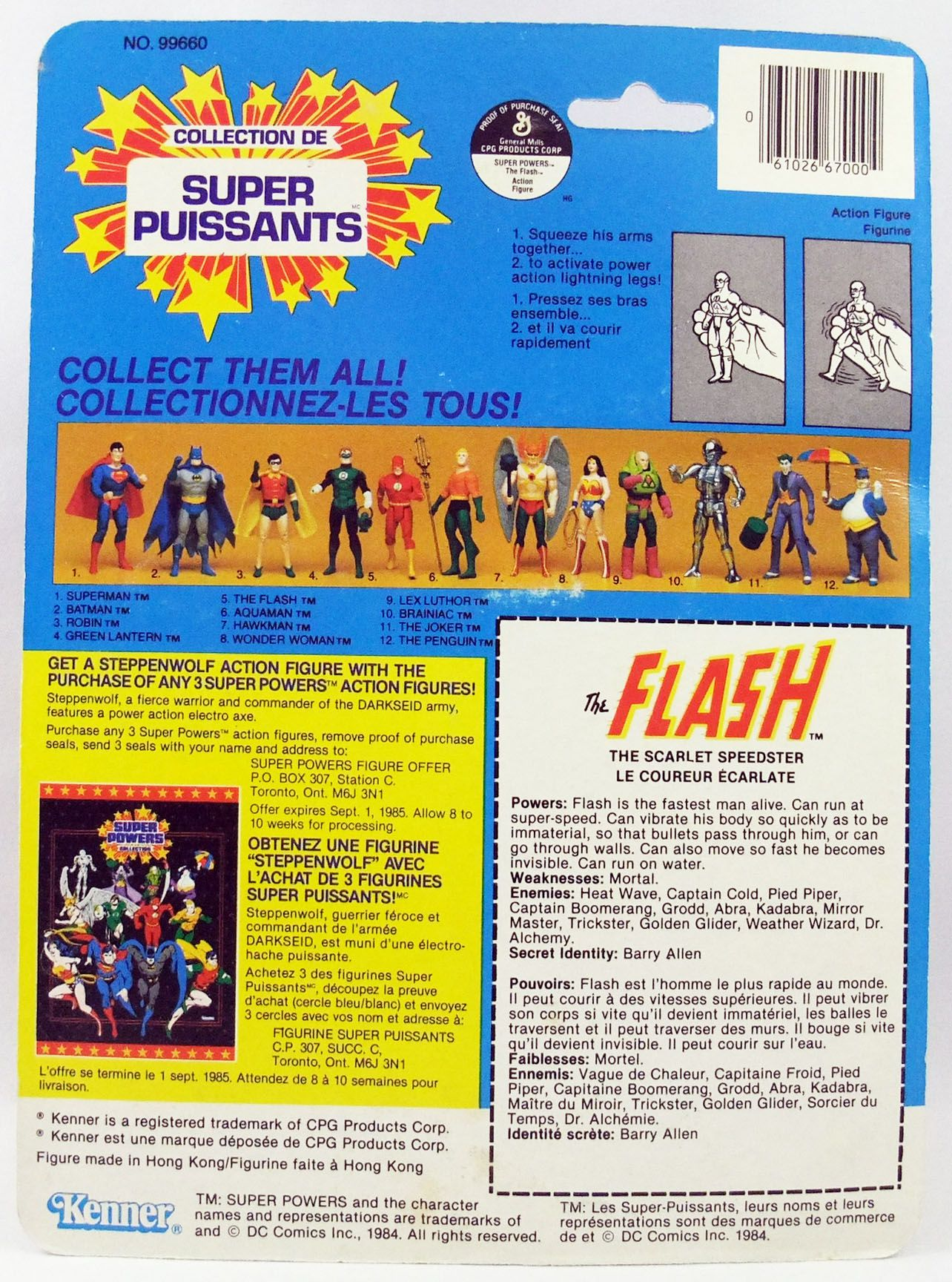 DC Super Powers - Kenner - The Flash (mint with cardback)