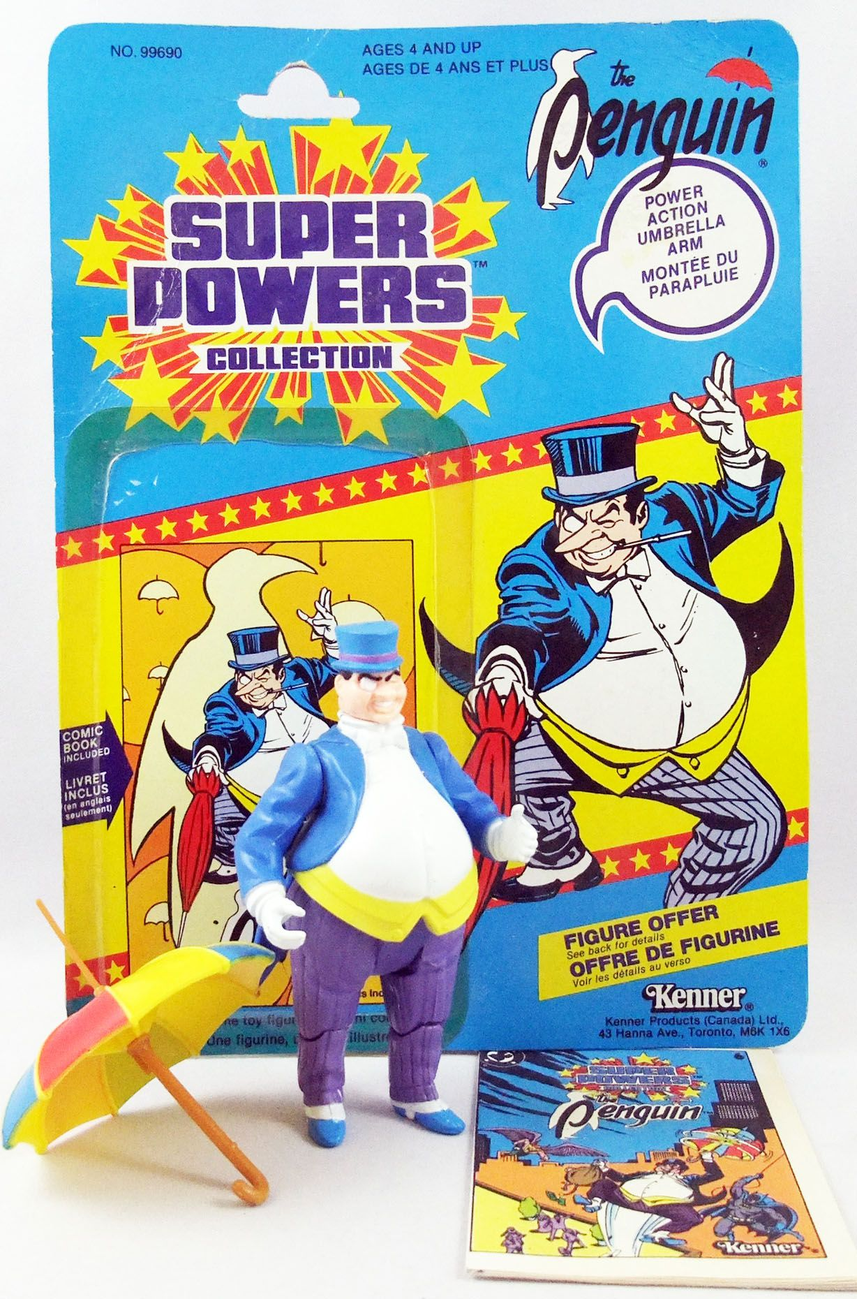 DC Super Powers - Kenner - The Penguin (mint with cardback)