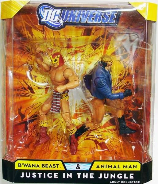 DC Universe - Exclusive - B\'wana Beast & Animal Man : Justice in the Jungle