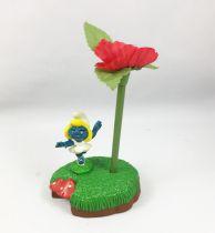 Desktop Smurf (Schlumpf Büro) - Schleich - 7907 Ballerina Smurfette Pen Set (occasion)