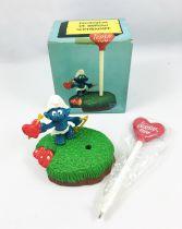 Desktop Smurf (Schlumpf Büro) - Schleich/Mafi - 7906 Love Smurf Pen Set