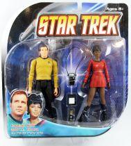 "Diamond Select - Star Trek The Original Series - Captain Kirk & Lt. Uhura - 7\"" action-figures"