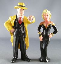 Dick Tracy - Figurines PVC Applause - Dick Tracy (Warren Beatty) & Breathless Mahoney (Madonna)