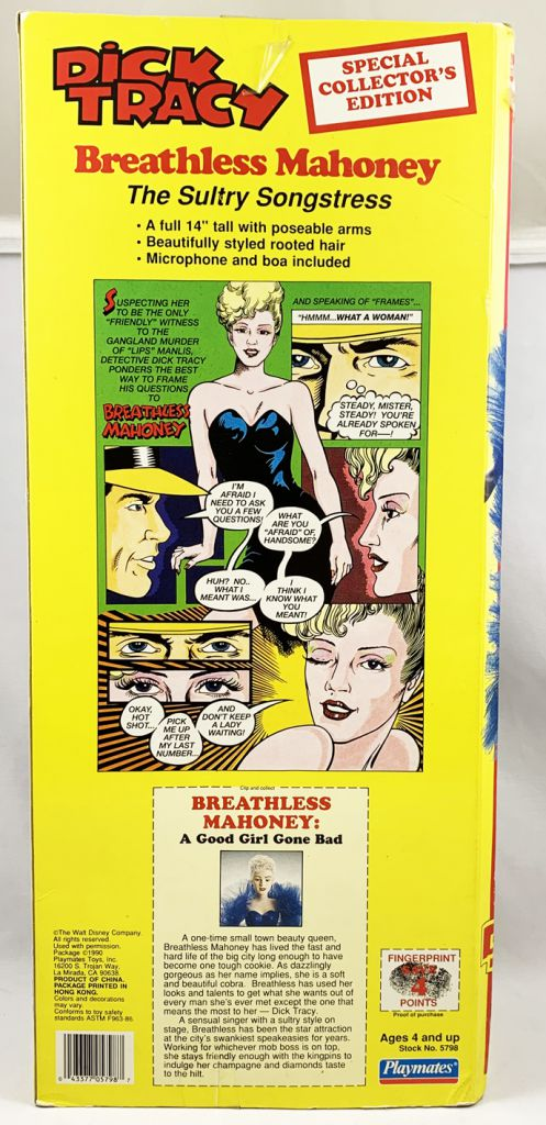 Dick Tracy - Poupée 40cm Playmates - Breathless Mahoney (Madonna)