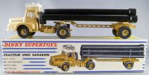 Dinky SuperToys 893 Unic Sahara Tractor & Pipe carrier Semi-Trailer Instruction Boxed
