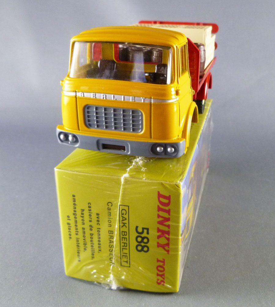 Dinky Toys Atlas 588 Berliet Gak Plateau Brasseur Jaune Neuf Boite