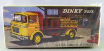 Dinky Toys Atlas Yellow Berliet Gak Brewery Flat Truck with Tailboard Mint in Box