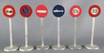 Dinky Toys France 40 6 Panneaux de Signalisation de Police Ville Sans Boite 100% d\'origine 2