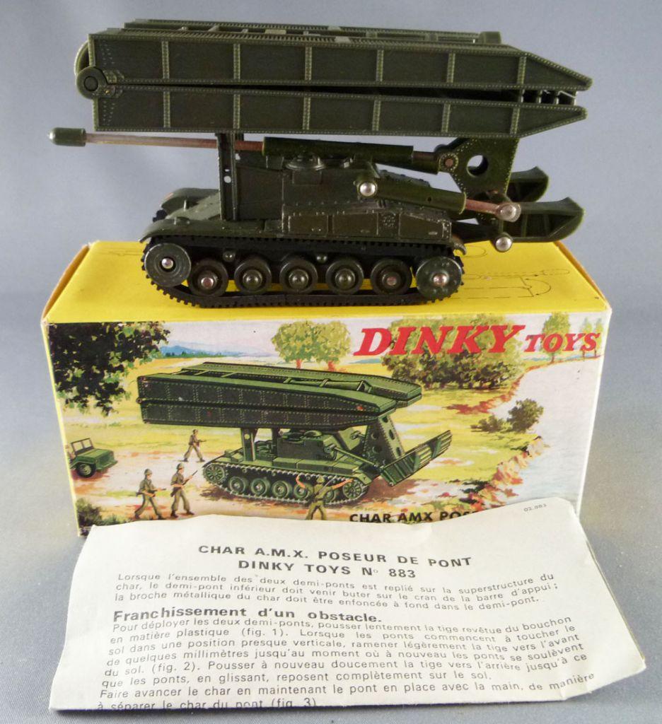 Dinky toys boîte repro 883 char AMX poseur de pont