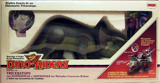 Dino Riders - Triceratops with Hammerhead & Sidewinder - Comansi