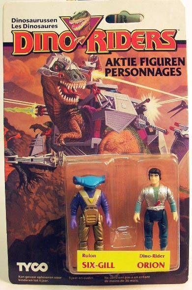 Dino Riders Series 1 - Six-Gill & Orion - Tyco