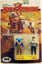 Dino Riders Series 1- Six-Gill & Aries - Tyco