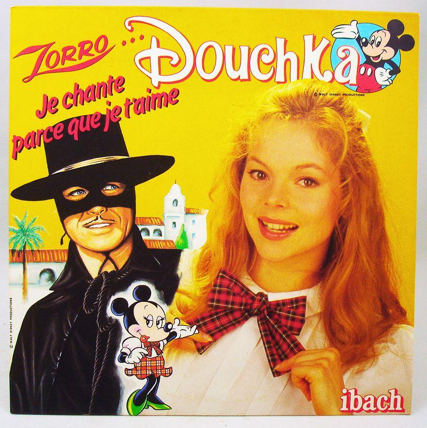 Douchka - Disque 45Tours - Zorro & Sport Goofy - Walt Disney Prod. 1985