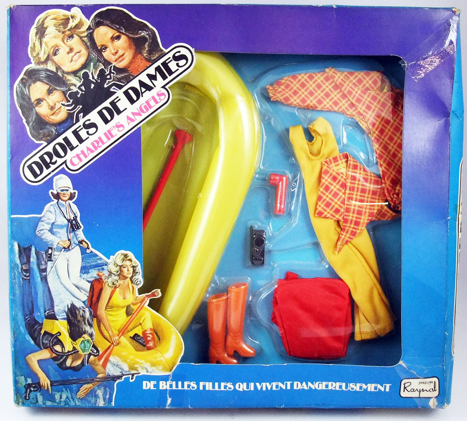 "Drôles de Dames Raynal Hasbro Set d/'accessoires /""Aventure en Canoe/"""