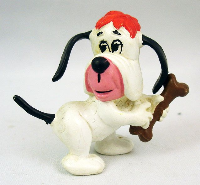 Droopy  - Schleich 1981 - Figurine PVC Droopy avec os