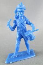 Dulcop - Figurine Plastique Souple 55mm - Empire - Voltigeur Tambour (bleu)
