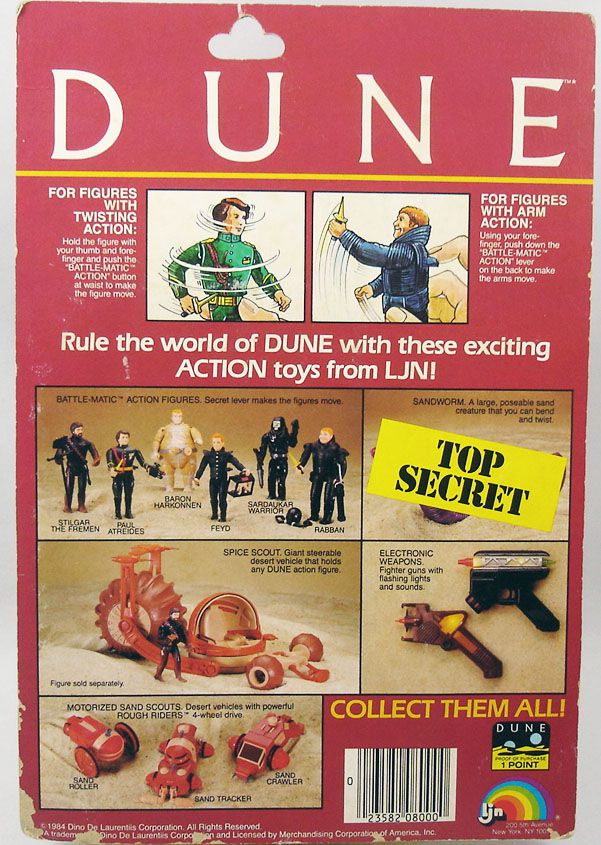 DUNE - LJN Action Figure - Feyd (Mint on card)