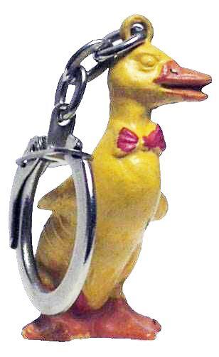 Dynamo Duck - Jim Figure Key chain - Red tie