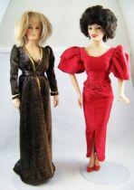 Dynasty - Poupées 45cm World Doll 1985 - Krystle Jennings Carrington (Linda Evans) & Alexis Morrell Carrington (Joan Collins) 01