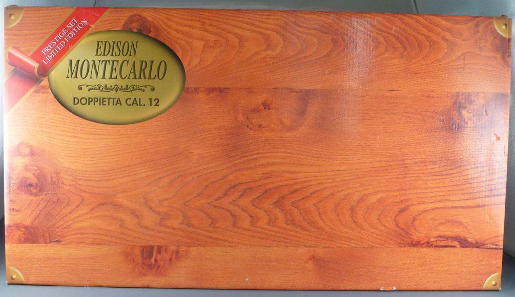 Edison Giocattoli - Deluxe Set Cal 12 Double Barrel Toy Shotgun Montecarlo with Cartridge Belt