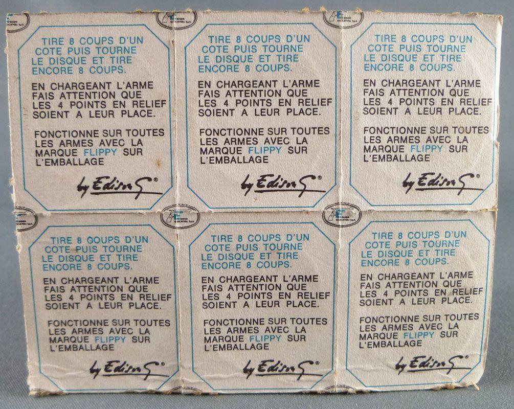 Edison Giocattoli 6 x 80 Amorces Flippy soit 6 Plaquettes de 5 x 8 + 8 coups Neuf Blister