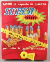 Edison Giocattoli 80 Super Bum Firecracker Caps Box with 10 Strips x 8 Shots