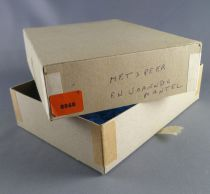 Elastolin - Middle age - Empty box for 1 Mounted striking with lance cape triangle shield ref 8868