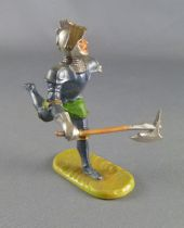 Elastolin - Middle age - Footed Trooper running with axe soft plastic (ref 8941)