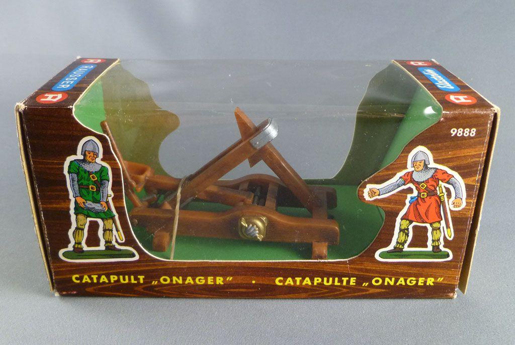 Elastolin - Moyen-âge - Accessoires - Petite catapulte onagre neuve en boite (réf 9888)