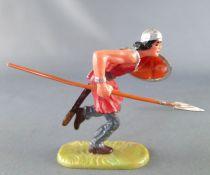Elastolin - Moyen-âge - Piéton courant lance et bouclier (rouge) (réf 8830)