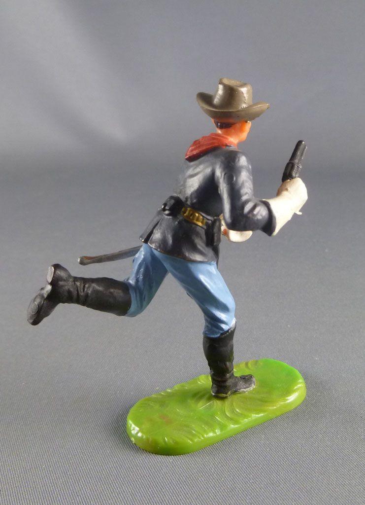 Elastolin - Us Cavalerie - Piéton officier courant avec revolver (réf 7022)