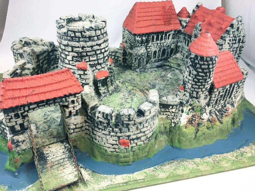 Elastolin 40mm (type) - Moyen-âge - Château Fort (moyen modèle) avec 1 pont levis