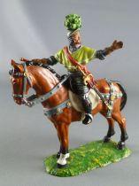 Elastolin Preiser -  XIV / XVIII siecle - Lansquenets Cavalier Georg  von Frundsberg (réf 8971)