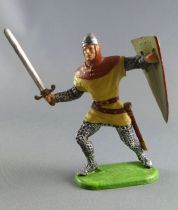 Elastolin Preiser - Middle age - Norman Footed attacking sword & shield (cream) (ref 51003)
