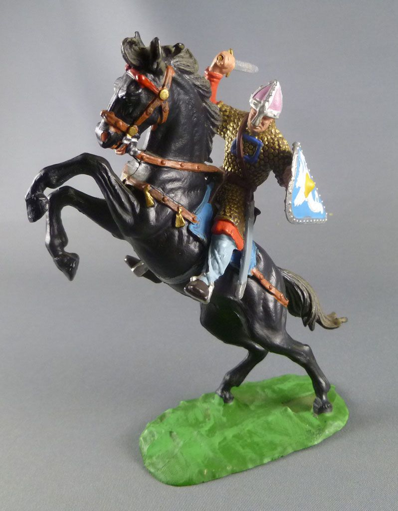 Elastolin Preiser - Moyen-âge - Normand Cavalier attaquant ...