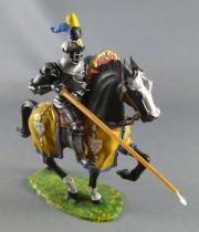 Elastolin Preiser - XV / XVIII siècle - Garde Suisse Cavalier attaquant lance & bouclier (réf  8966)