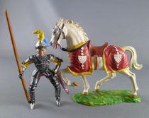 Elastolin Preiser - XV / XVIII siècle - Garde Suisse Cavalier lance coté droit (réf  8965)