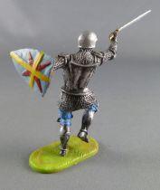 Elastolin Preiser - XV / XVIII siècle - Garde Suisse Pièton attaquant épée bouclier en arrière (réf 8939)