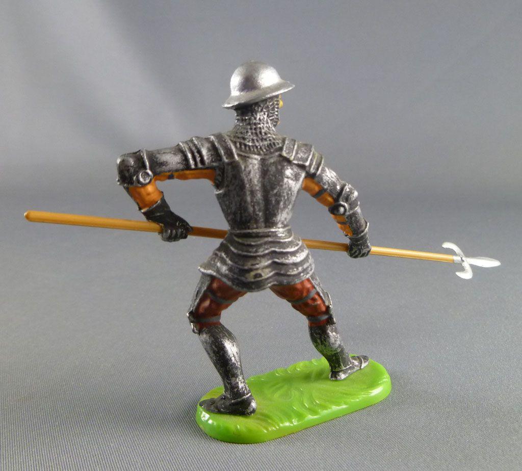Elastolin Preiser - XV / XVIII siècle - Garde Suisse Pièton défendant hallebarde (réf 8936)