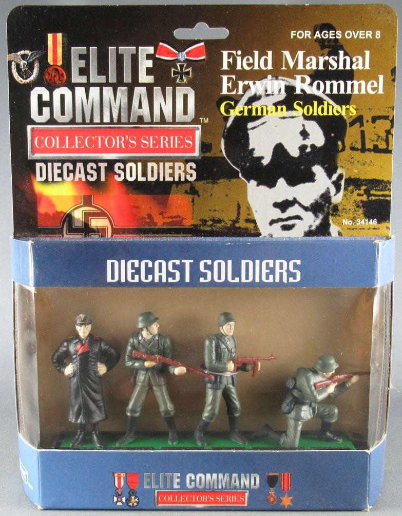 Elite Command 34146 - 4 DieCast Metal 60mm Figures - Field Marshal Erwin Rommel WW2 German Army Mint in Box