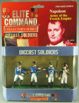 Elite Command 34147 - 4 DieCast Metal 60mm Figures - Napoleon Army of the French Empire Mint in Box