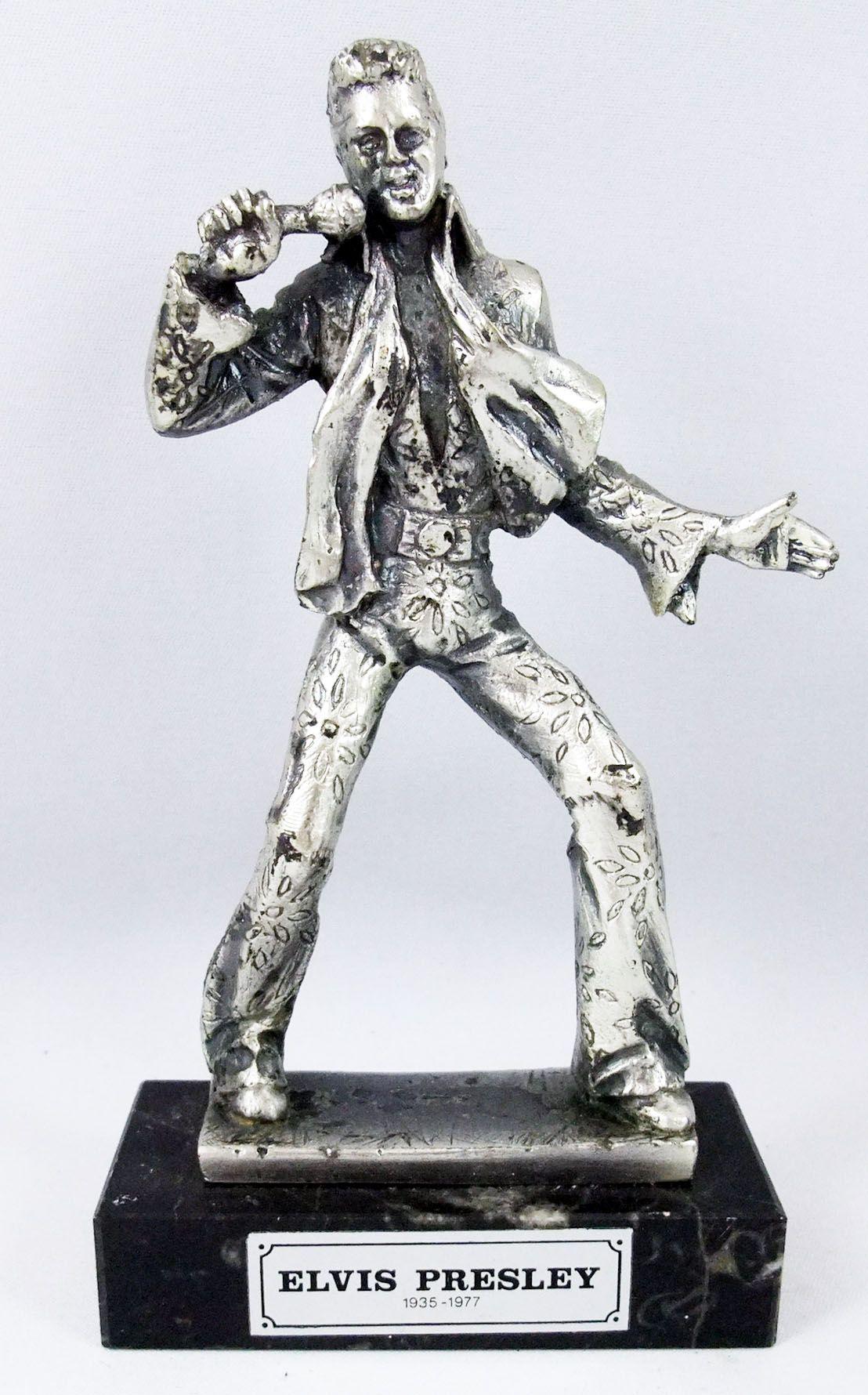 Elvis Presley - Statue en métal injecté 16cm - Daviland France 1978