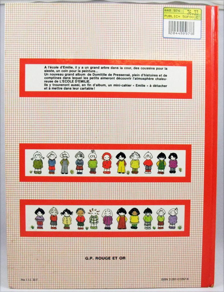 """Emilie - Livre d\'activité illustré \""""L\'école d\'Emilie\"""" - Editions G.P. Rouge et Or 1983"""