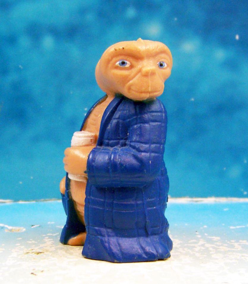 E.T. - LJN 1982 - Figurine PVC - E.T. avec peignoire & biere