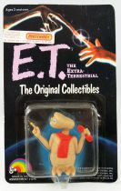 E.T. - LJN 1982 - PVC Figure - E.T with scarf and phone (on card)